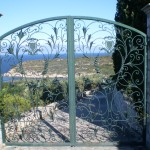 Gates to 'The Magus' house (depicted)