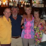 Dave, Costas, Me and Viv in Bar Spetsa